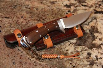Drop Point Hunter with Walnut Scales and Sheath
